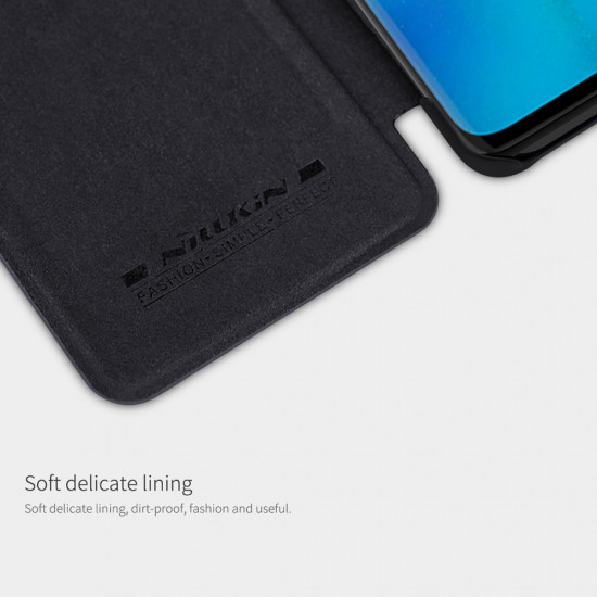 Nillkin Huawei P30 Pro Qin Leather Flip Book Case Θήκη Βιβλίο - Black