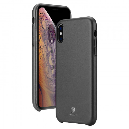 Dux Ducis Apple iPhone X / XS Skin Lite Series Θήκη PU Leather - Black