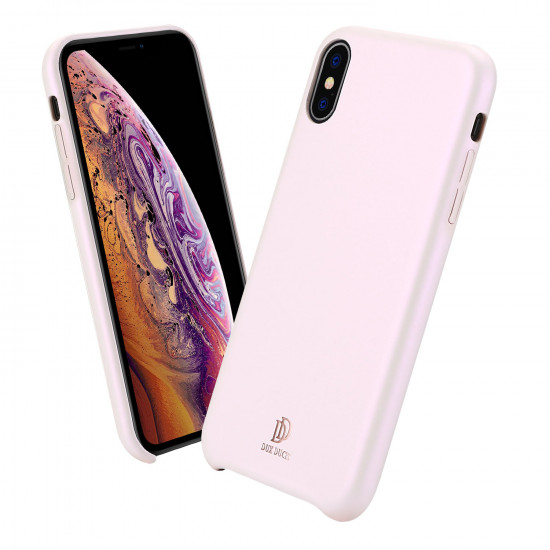 Dux Ducis Apple iPhone XS Max Skin Lite Series Θήκη PU Leather - Rose Gold
