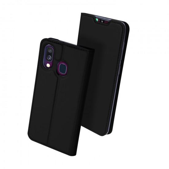Dux Ducis Samsung Galaxy A40 Flip Stand Case Θήκη Βιβλίο - Black