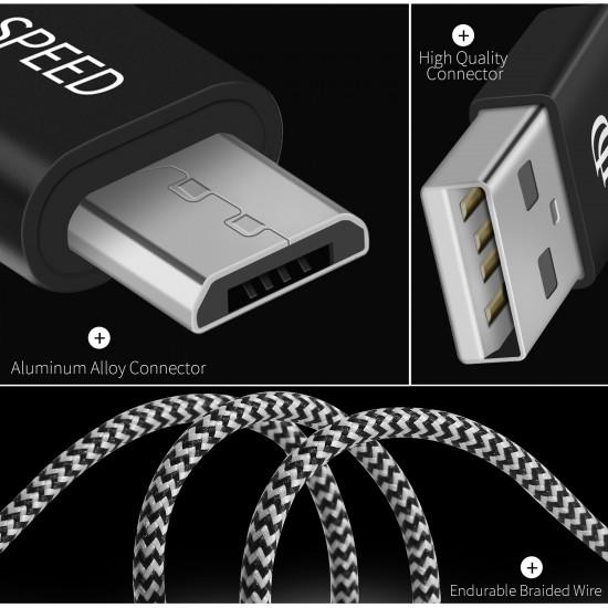 Dux Ducis K-ONE 2.1A - Καλώδιο Δεδομένων και Φόρτισης Micro USB 3M - Black / White