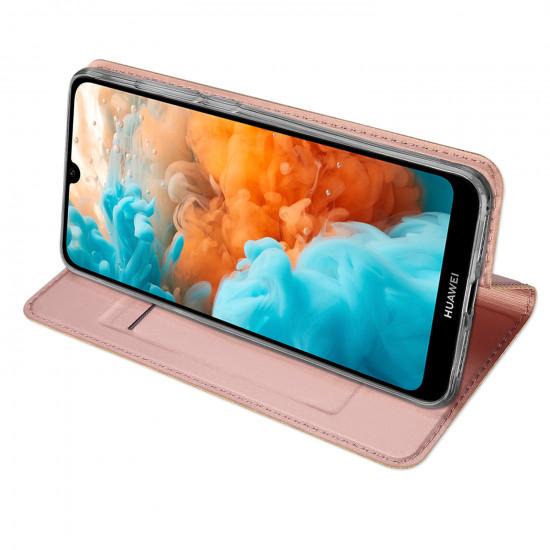 Dux Ducis Huawei Y6 Pro 2019 Flip Stand Case Θήκη Βιβλίο - Rose Gold