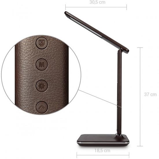 Navaris LED Desk Lamp Dimmable with LCD Display Επιτραπέζιο Φωτιστικό με Οθόνη LCD - Brown - 40734.05