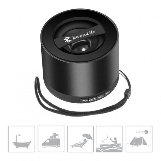 Kwmobile Επαναφορτιζόμενο Ηχείο Bluetooth για όλα τα Κινητά - Black - 35319.01