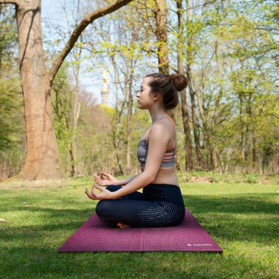 Navaris Workout Mat Στρώμα Γυμναστικής για Γυμναστική / Yoga / Pilates - 4mm Πάχος - Purple - 45983.13