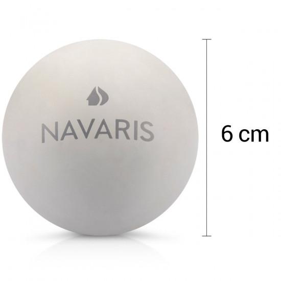 Navaris Lacrosse Massage Balls Set of 2 - Μπάλες Μασάζ για πριν ή μετά την άθληση - Grey / Dark Grey - 41512
