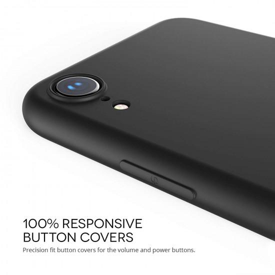 Caseflex Apple iPhone XR Θήκη Σιλικόνης TPU Matte - Solid Black - CS000015AP