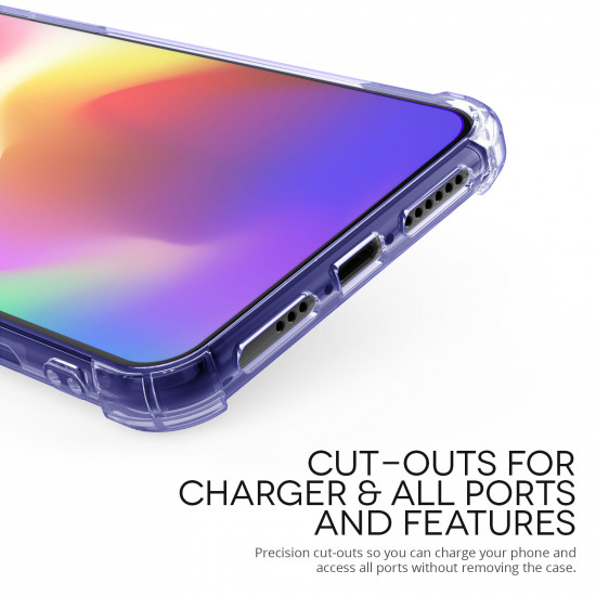 Caseflex Apple iPhone XS Θήκη Σιλικόνης TPU Carbon Fiber - Purple - Διάφανη - CS000009AP