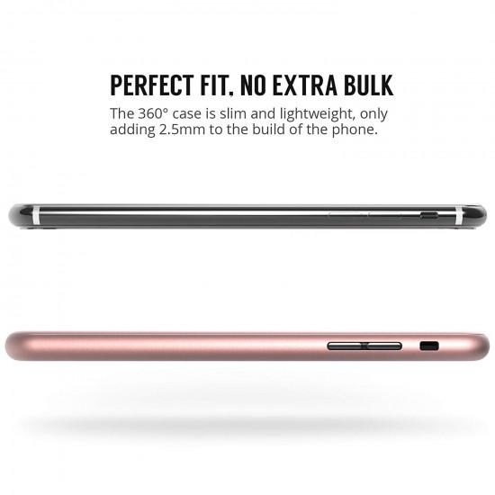 Centopi Apple iPhone X 360 Full Cover Σκληρή Θήκη με Αντιχαρακτικό Γυαλί Οθόνης - Rose Gold - CEN-APP-120