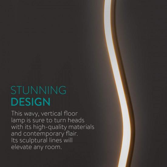 Navaris LED Floor Lamp Φωτιστικό Δαπέδου με Φωτισμό LED - Silver - 49030.01