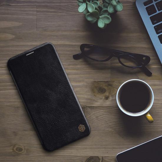 Nillkin Apple iPhone 11 Pro Max Qin Leather Flip Book Case Θήκη Βιβλίο - Black