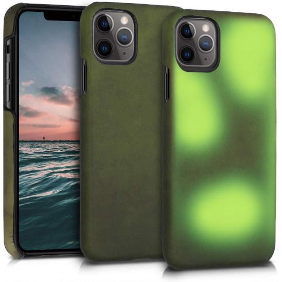 KW Apple iPhone 11 Pro Θήκη TPU που Αλλάζει χρώμα με την Θερμότητα - Black / Green - 49810.01