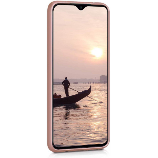 KW Xiaomi Redmi Note 8 Pro Θήκη Σιλικόνης TPU - Metallic Rose Gold - 50243.31