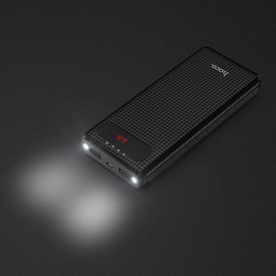 Hoco Mige B20a LED Power Bank 20000mAh 2.1A - Black