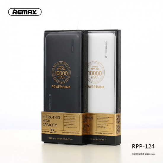 Remax RPP-124 Linon 2 Power Bank 10000mAh 2.1A - Black