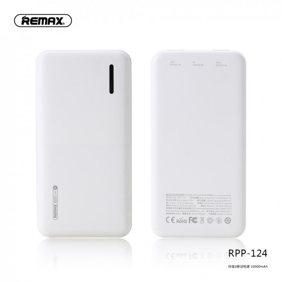 Remax RPP-124 Linon 2 Power Bank 10000mAh 2.1A - White