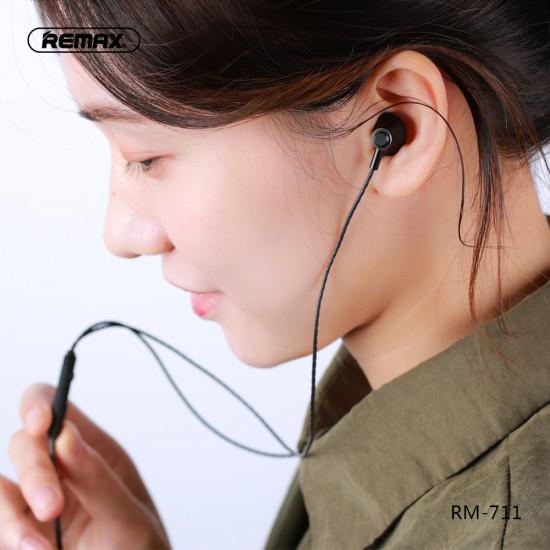 Remax RM-711 3.5mm Ενσύρματα In-Ear ακουστικά για κλήσεις / μουσική - Silver