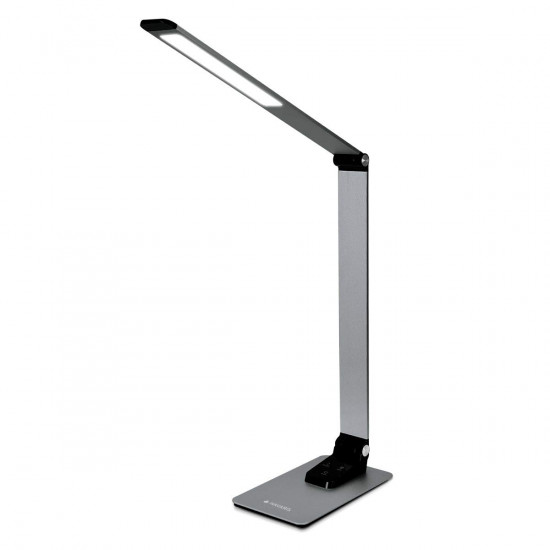 Navaris LED Desk Lamp Dimmable with USB Port Επιτραπέζιο Φωτιστικό - Dark Grey - 49127.19