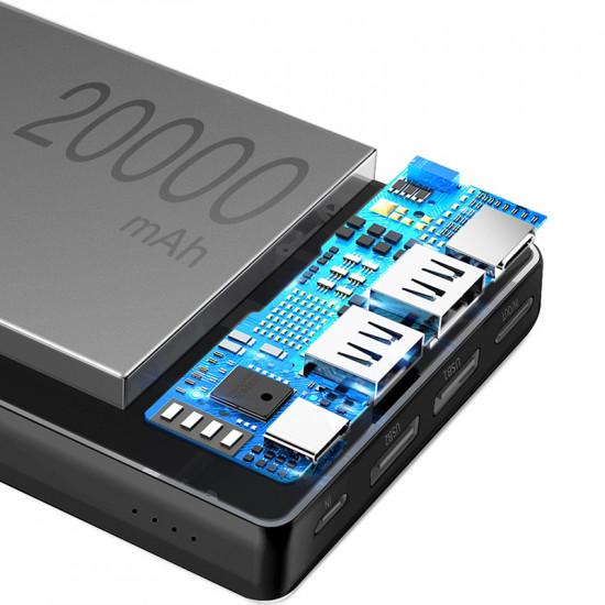 Baseus Mini Ja Power Bank 20000mAh 3A with Type C - Black - PPJAN-B01
