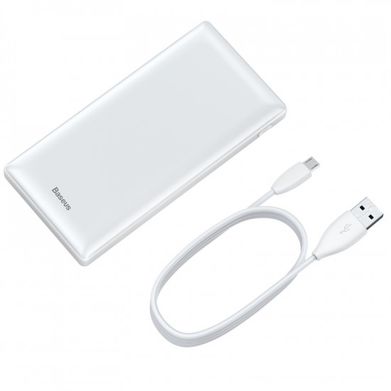 Baseus Mini Ja Power Bank 20000mAh 3A with Type C - White - PPJAN-B02