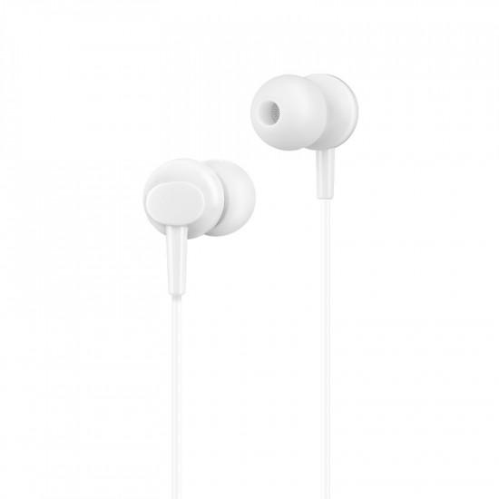 Hoco M14 Handsfree Ακουστικά με Ενσωματωμένο Μικρόφωνο - White