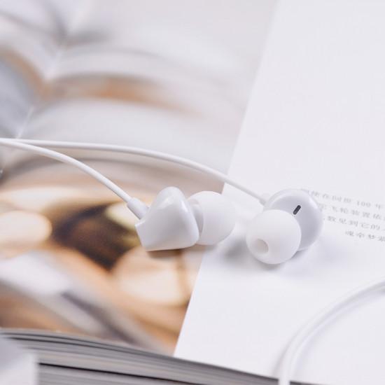 Hoco M60 Handsfree Ακουστικά με Ενσωματωμένο Μικρόφωνο - White