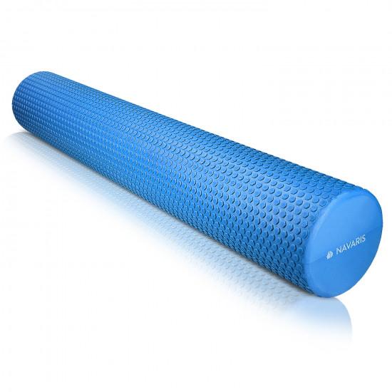 Navaris EVA Foam Roller for Exercise, Pilates, Yoga, Stretching, Muscle Massage - Κύλινδρος Γυμναστικής - 90cm - Blue - 45380.04