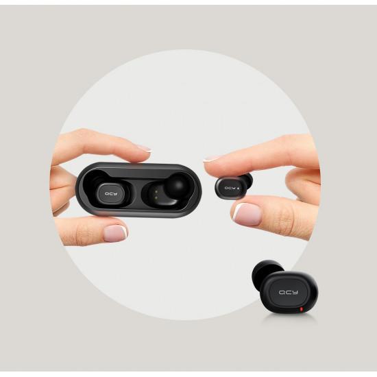 QCY T1 Wireless Earphones Bluetooth 5.0 - Ασύρματα ακουστικά για Κλήσεις / Μουσική - Black