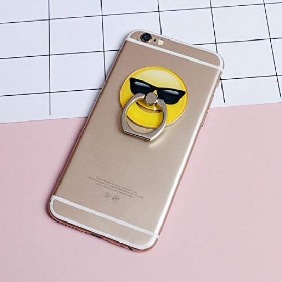 Sticky Smart - Ring - Δαχτυλίδι Συγκράτησης Κινητού / Tablet - Βάση Στήριξης - Design Emoji Sunglasses