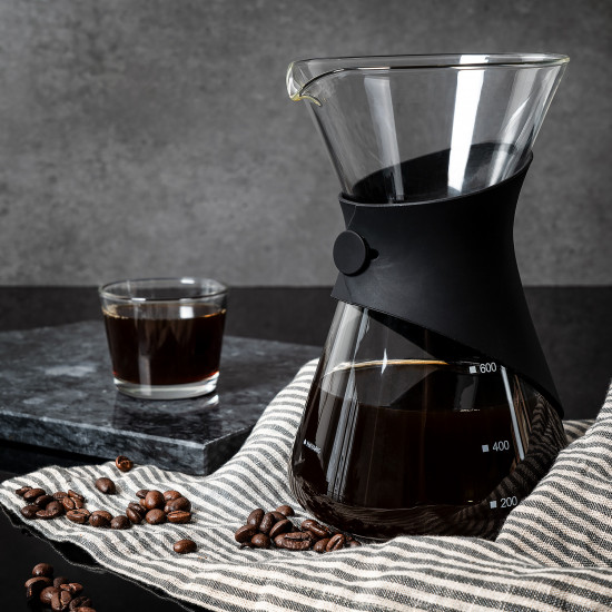 Navaris Pour Over Coffee Maker Γυάλινη Καφετιέρα - Black / Clear - 50095.01