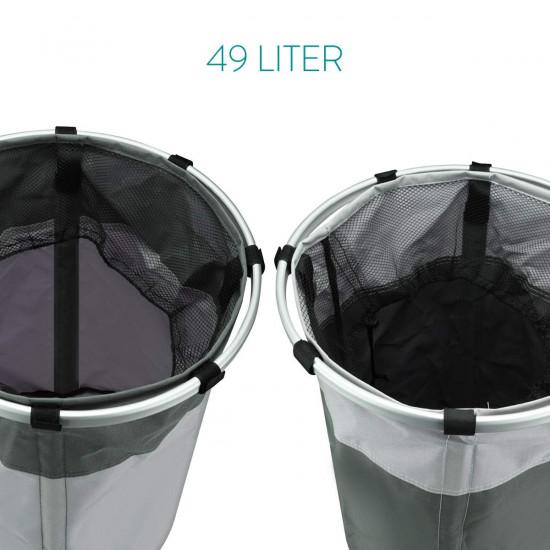 Navaris Laundry Baskets Set of 2 Σετ με 2 Καλάθια Απλύτων - 49L - Light Grey / Dark Grey - 49473.01