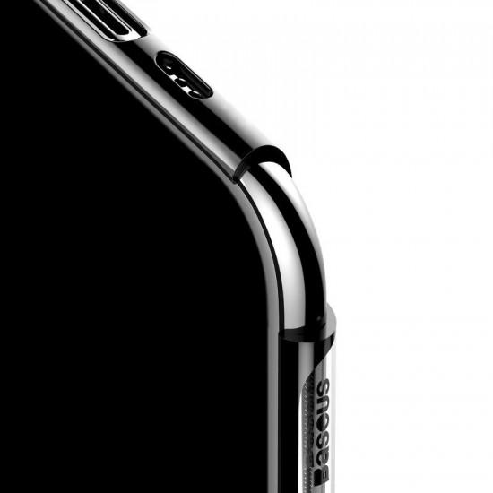 Baseus Apple iPhone 11 Pro Shining Case - Θήκη Σιλικόνης - Clear / Black - ARAPIPH58S-MD01