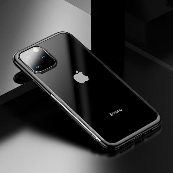 Baseus Apple iPhone 11 Pro Max Shining Case - Θήκη Σιλικόνης - Clear / Black - ARAPIPH65S-MD01