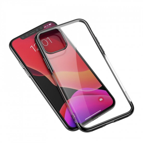 Baseus Apple iPhone 11 Shining Case - Θήκη Σιλικόνης - Clear / Black - ARAPIPH61S-MD01