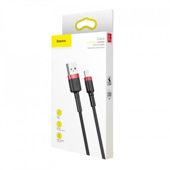 Baseus Kevlar Lightning Cable - Καλώδιο Lightning για Φόρτιση και Μεταφορά Δεδομένων 1.5A 2M - Black / Red - CALKLF-C19