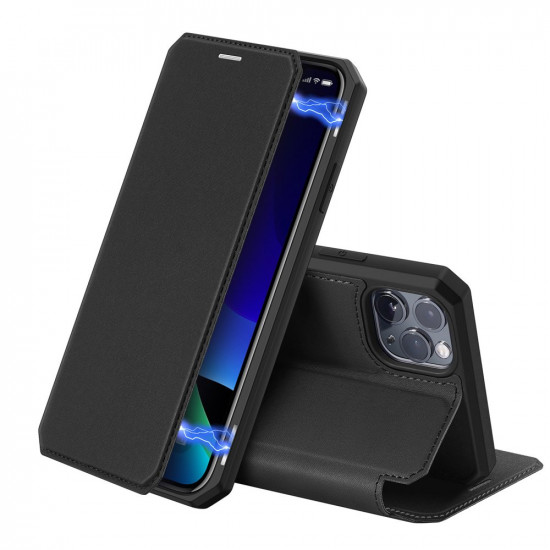 Dux Ducis Apple iPhone 11 Pro Skin X Flip Stand Case Θήκη Βιβλίο - Black