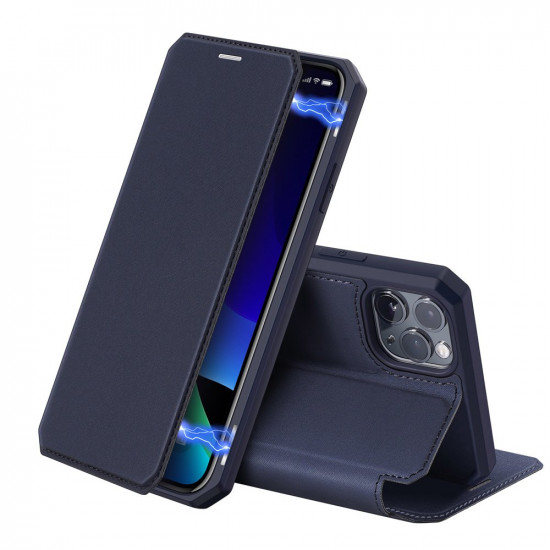 Dux Ducis Apple iPhone 11 Pro Max Skin X Flip Stand Case Θήκη Βιβλίο - Blue