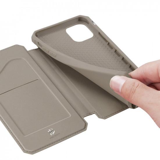 Dux Ducis Apple iPhone 11 Pro Max Skin X Flip Stand Case Θήκη Βιβλίο - Gold