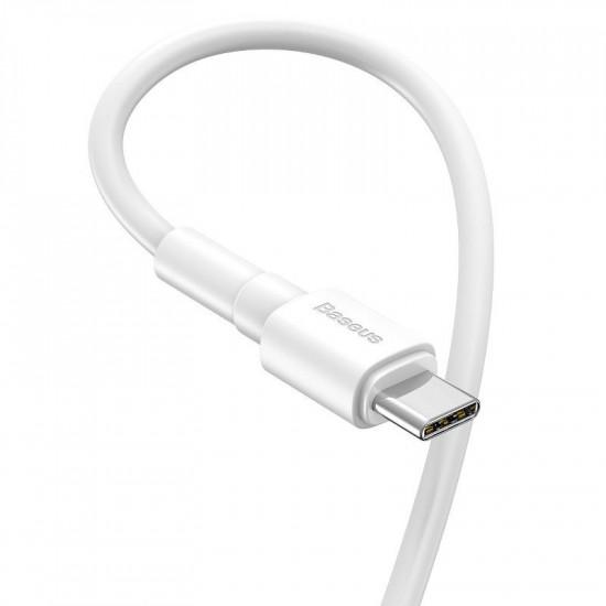 Baseus Mini Cable USB Type-C 3A - Καλώδιο Δεδομένων και Φόρτισης USB Type-C 1M - White - CATSW-02