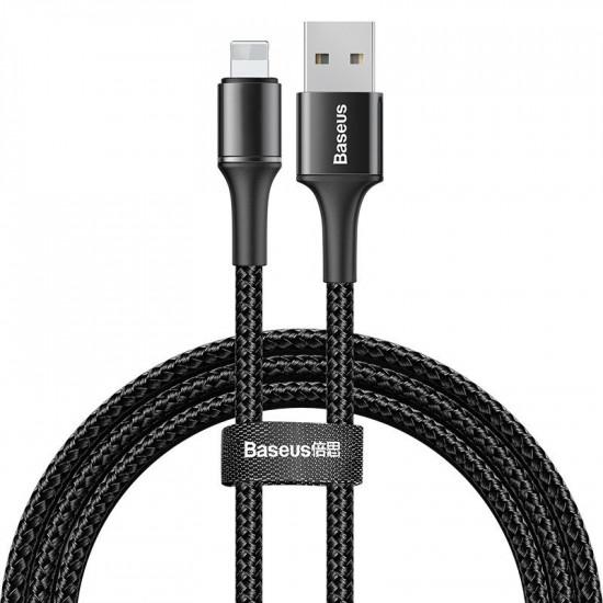 Baseus Halo Cable Lightning 2.4A - Καλώδιο Δεδομένων και Φόρτισης Lightning 1M για iPhone - Black - CALGH-B01