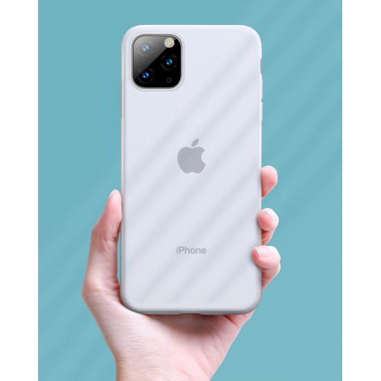 Baseus Apple iPhone 11 Pro Jelly Liquid Silica Gel Θήκη Σιλικόνης - White / Διάφανη - WIAPIPH58S-GD02