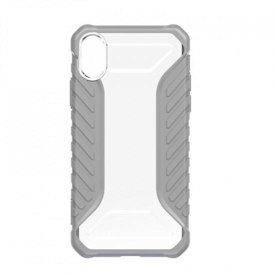 Baseus Apple iPhone XR Michelin Θήκη Υψηλής Προστασίας Hybrid - Grey / Διάφανη - WIAPIPH61-MK0G