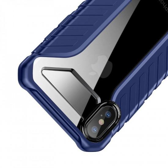 Baseus Apple iPhone XS Max Michelin Θήκη Υψηλής Προστασίας Hybrid - Blue / Διάφανη - WIAPIPH65-MK03
