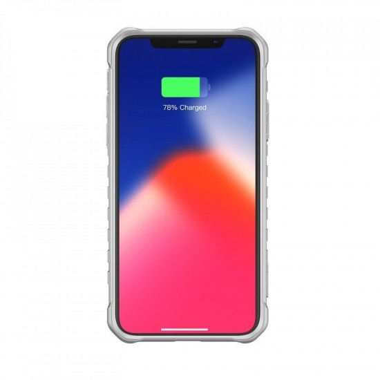 Baseus Apple iPhone XS Max Michelin Θήκη Υψηλής Προστασίας Hybrid - Grey / Διάφανη - WIAPIPH65-MK0G