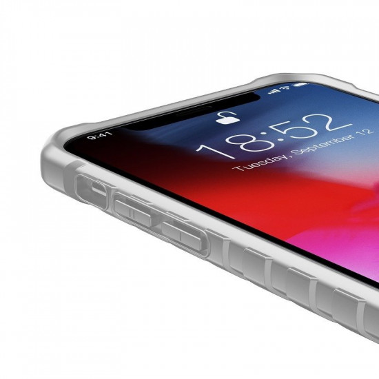 Baseus Apple iPhone X / XS Michelin Θήκη Υψηλής Προστασίας Hybrid - Grey / Διάφανη - WIAPIPH58-MK0G