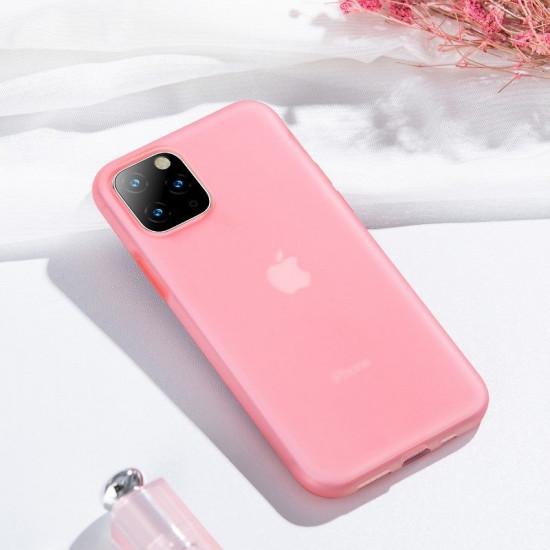 Baseus Apple iPhone 11 Pro Max Jelly Liquid Silica Gel Θήκη Σιλικόνης - Red / Διάφανη - WIAPIPH65S-GD09