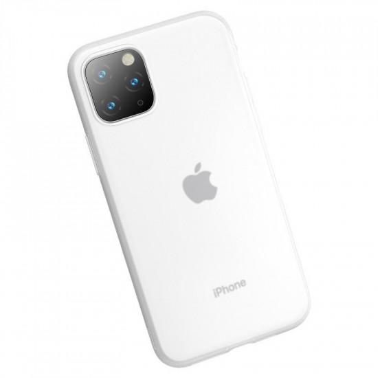 Baseus Apple iPhone 11 Pro Max Jelly Liquid Silica Gel Θήκη Σιλικόνης - White / Διάφανη - WIAPIPH65S-GD02