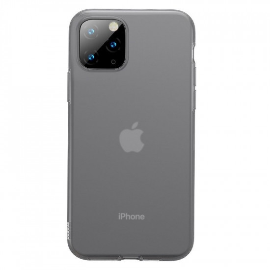 Baseus Apple iPhone 11 Pro Jelly Liquid Silica Gel Θήκη Σιλικόνης - Black / Διάφανη - WIAPIPH58S-GD01