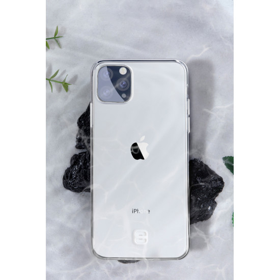 Baseus Apple iPhone 11 Pro Max Transparent Key Θήκη Σιλικόνης με Λουράκι - Διάφανη - WIAPIPH65S-QA02