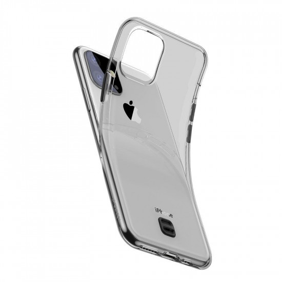 Baseus Apple iPhone 11 Transparent Key Θήκη Σιλικόνης με Λουράκι - Black / Διάφανη - WIAPIPH61S-QA01